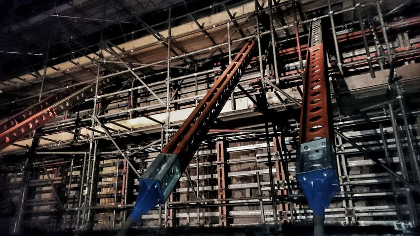 Built Structure Architecture Industry Construction Site AndroidPhotography Nightphotography Business Finance And Industry Scaffolding Netting Ladders Walkways Pattern Geometric Scaffolding, Outside, Architecture, Scaffold SUPPORT SUPPORTING Brace Face Bracers Construction Industry Bridge Bridge Building New Build Newtown Powys ByPass BypassRoad