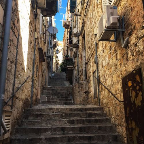Dubrovnik Croatia Travel Destinations Travel Architecture Stairs Day Steps Alley No People Sky History Old Town City