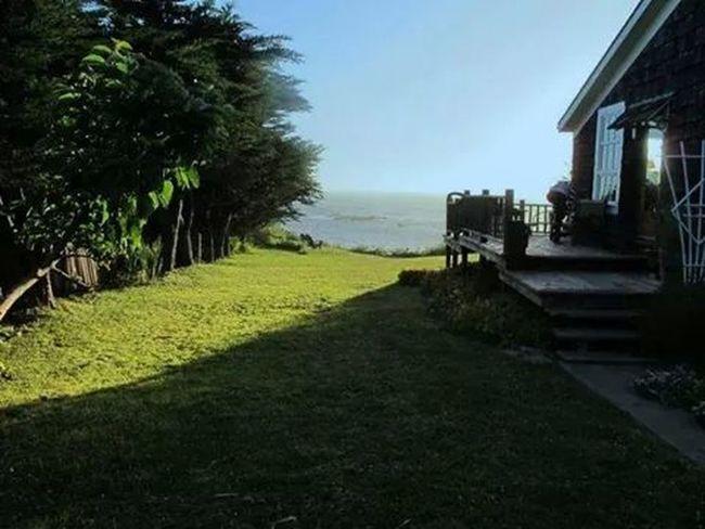 The ocean view beyond Westport California house back yard in July 2011.