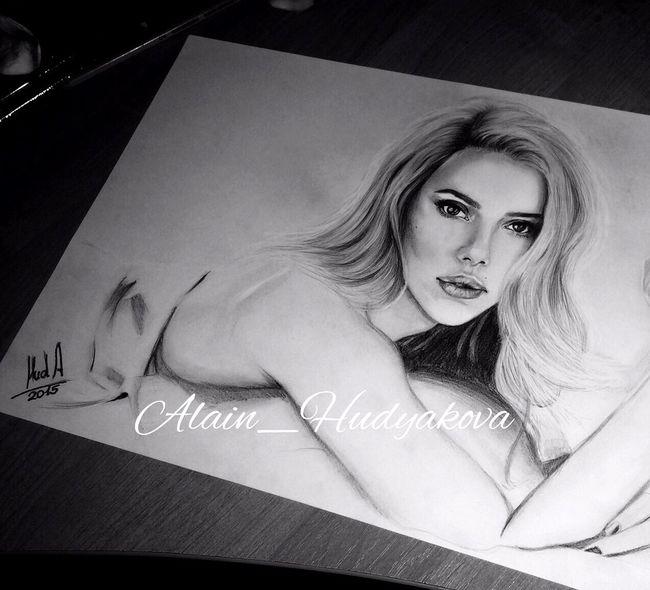 Drawing Portrait Art Art, Drawing, Creativity Artist ArtWork Scarlett Johansson Awesome Beauty портрет