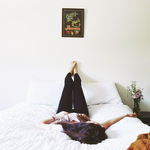My favorite room. Vscocam Portrait Of A Woman Bed White Love Bedroom Minimalism A New Beginning