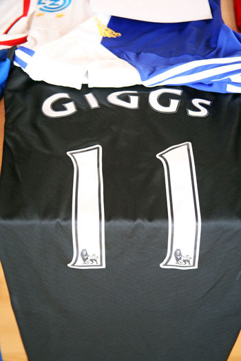 Giggs original football jersey from deceased Franciscan Vrancic's collection,Croatia Croatia Europe Giggs Vrancic Close-up Collection Dress Famous Fan Football Franciscan History Jersey Original Past Players Present Shirt Sport Stars Uniform