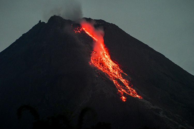 Mount merapi is the most active volcano in central java and yogyakarta, indonesia
