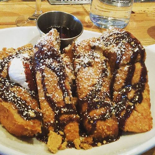 Prepandpastry S'mores French toast for the win.... I didn't need syrup or butter.... In heaven..