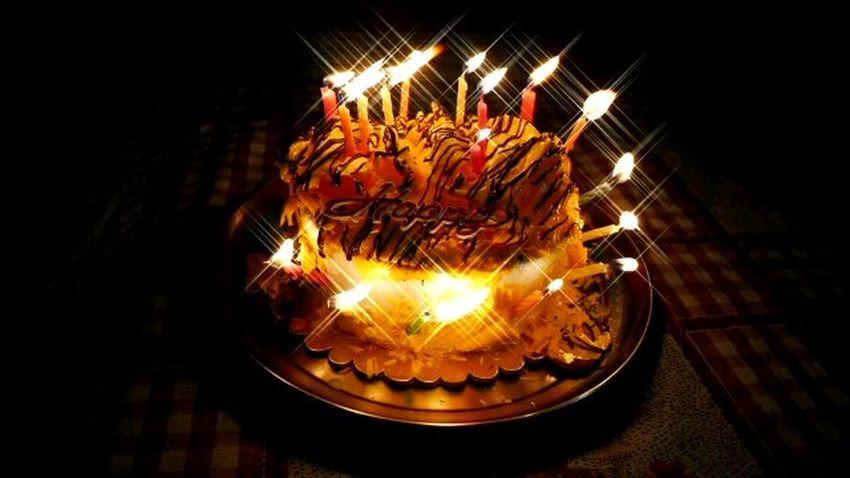 Happy Moments Candles Burning Cake Heat - Temperature Night Food No People Illuminated