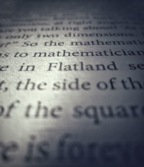 Text Selective Focus Close-up Page Paper Book Cosmos Flatland Math Mathematician Paperback Macro Photography