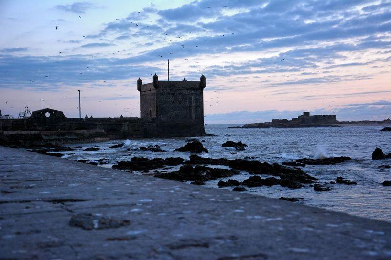 Old portuguese fort on morocco coastline