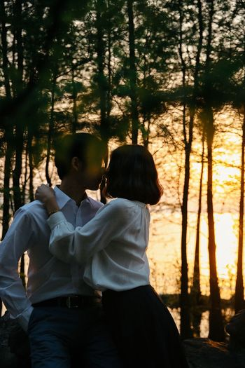Dusk Romantic Love Kiss This Is Family