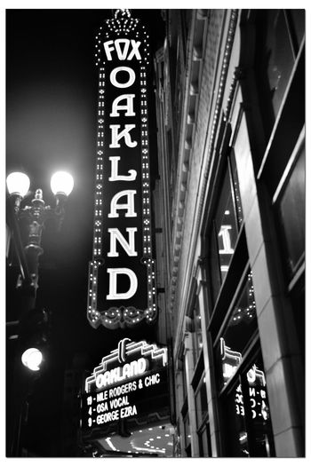 Theater Marquee 3 Fox Oakland Theatre Concert Hall  Est. 1928 Former Movie Theater 2800 Seats West Coast Oakland Home Of Oakland School For The Arts Bnw_friday_eyeemchallenge Bnw_marquees Neon Lights Antique Lamppost Monochrome_Photography Monochrome Black & White Black & White Photography Black And White Black And White Collection  Theater Facade Nighttime Illuminated Communication Text Western Script Architecture Built Structure