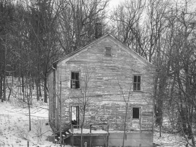 Blackandwhite Window Winter House Built Structure Architecture Bare Tree No People Building Exterior Tree Outdoors Nature Day