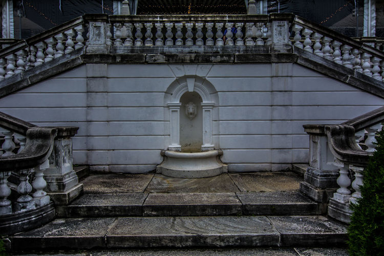 Architectural Column Architectural Feature Architecture Built Structure Day Edith Wharton Estate Façade Historic History Lenox, MA No People Ornate Outdoors Tourism Travel Destinations Water Fountain. The Mount