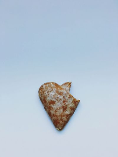 A heart shape gingerbread cookie Food And Drink Studio Shot White Background Heart Shape Cookie Cut Out Food Still Life Single Object Copy Space Baked Love No People Sweet Food Snack Close-up Freshness Unhealthy Eating Ready-to-eat Indoors  Gingerbread