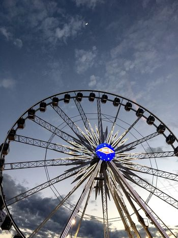Ferris Wheel Amusement Park Arts Culture And Entertainment Leisure Activity Low Angle View Sky No People Big Wheel Outdoors Day Rodeohouston Texas Ferris Wheel