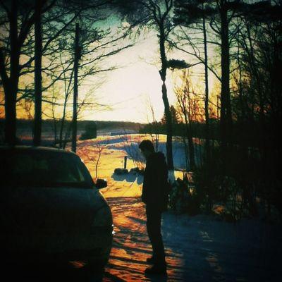 Beautiful sunset <3 Winter Brother Canada #sunset