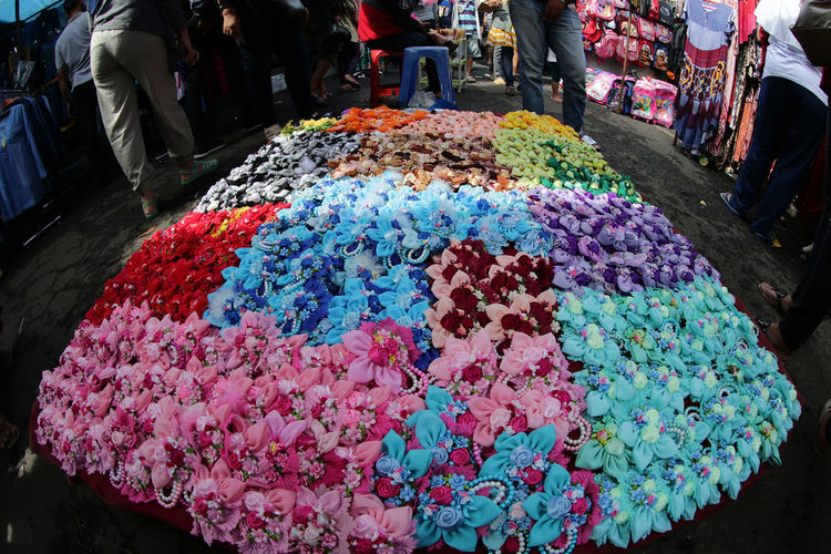 Hair Ribbon Colorful Decoration Fashion Flower For Sale Market Multi Colored Traditional Market EyeemWomen