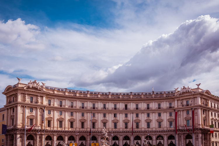 Cloud - Sky Architecture Building Exterior Built Structure Sky Travel Destinations History The Past Nature Arch City No People Day Low Angle View Travel Tourism Building Outdoors Architectural Column