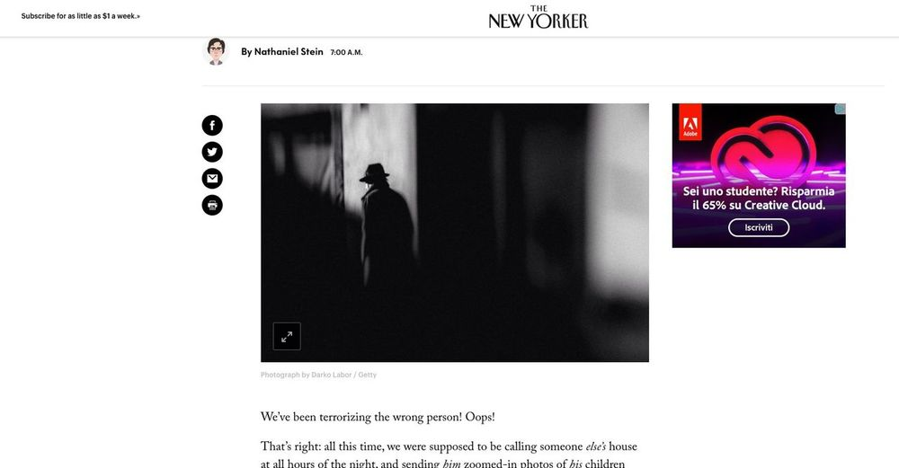 Lovely to see my photo in The New Yorker :-) The New Yorker EyeEm Best Shots Getty Images This Week On Eyeem Communication Technology Text Western Script Indoors  People Number