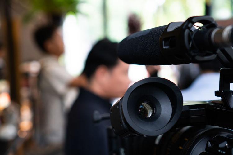 Close-up portrait of camera