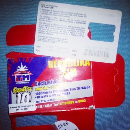 It's exactly one year today, same date, when I started using my TouchMobile SIM card. ™ TouchMobile Globe Sim anniversary