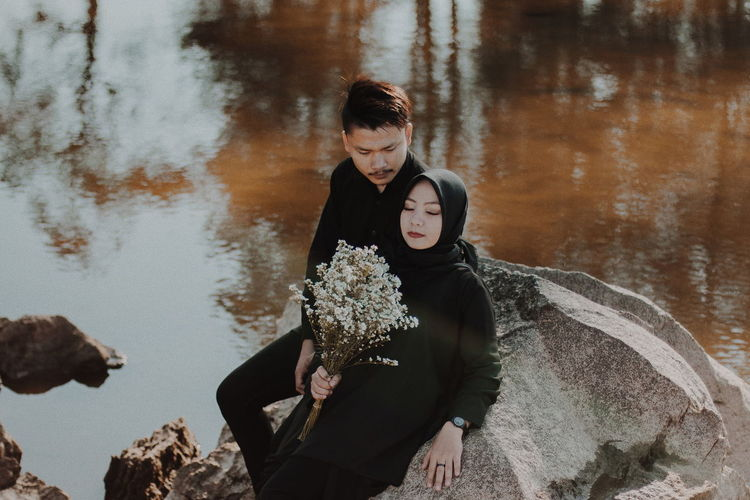 EyeEmNewHere EyeEm Selects A New Beginning Togetherness Portrait Water Winter Close-up Falling In Love Couple Romantic Activity Romance #NotYourCliche Love Letter