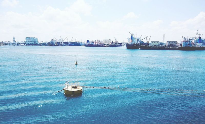 Port Sea Nautical Vessel Water Transportation Clear Sky Outdoors Day Wake - Water Blue Veracruz Mexico