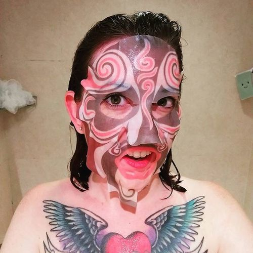 Coolest  Facemask Ever Japaneseopera Beauty Pamper Pampertime Selfie FreshNclean Asianbeautyproducts SASA
