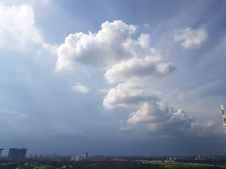 Cloud - Sky Outdoors Day Sky Nature No People City Storm Cloud Beauty In Nature Thunderstorm Cityscape Johor Bahru Malaysia