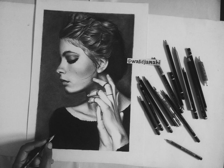 Drawing ✏ By Me with Pencils . what do you think ? i Hope You Like It :) Art Is Everywhere Art Artdrawing Drawings Draw Draws Artistic ArtWork Artwork By Me Model Models Fashion Portrait Portrait Of A Woman Portrait Photography