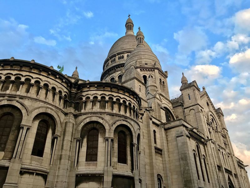 Architecture Building Exterior Built Structure Low Angle View History Sky Cloud - Sky Day Outdoors Religion Spirituality Travel Destinations Place Of Worship No People Sacré Coeur, Paris