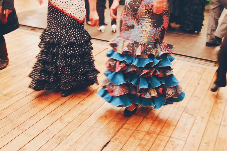 Real People Human Leg Leisure Activity Hardwood Floor Dress Feria De Abril Festival Festive Dance Dancing Moving Spanish Culture Traditional Clothing Tradition Your Ticket To Europe