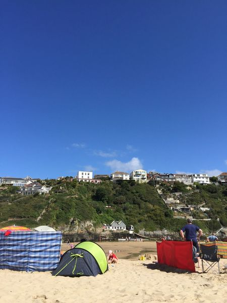 Blue Day Beach Nature Architecture Outdoors Built Structure Sand Clear Sky Sky No People Beauty In Nature Crantock