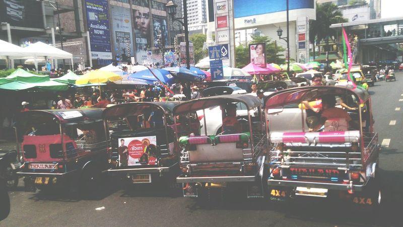 Toktok Bangkok Thailand Traveling Transportation Thai Bangkok Thailand. Streetphotography Asian  Life
