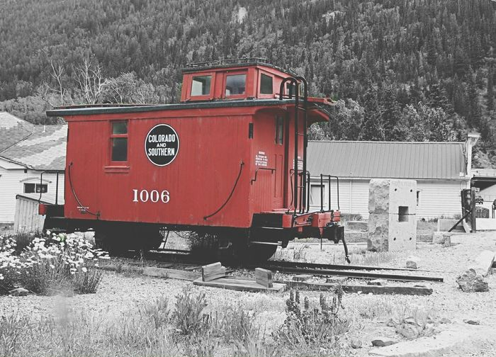 Caboose Red Caboose Red Colorsplash Pastel SoftTrains Transportation Colorado Mountains First Eyeem Photo