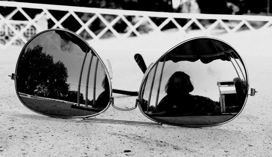 IPhoneography Reflection Sunglasses Myself Blackandwhite very rare moment, myself in the picture (kind of)