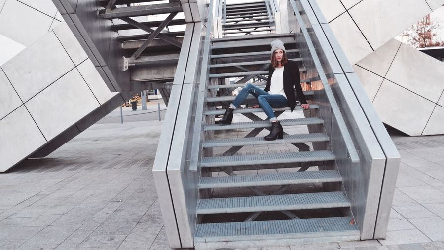 Man working on staircase