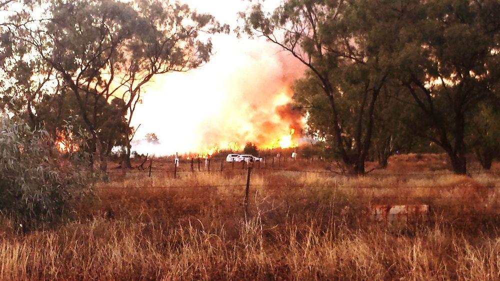 Bushfire Walgett NSW Australia