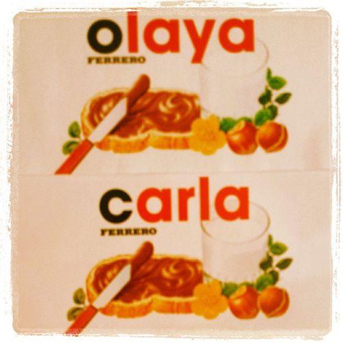 @carrlafdez Nutella Nombres Olaya Carla OliCar Ricorico Nuestromayorvicio