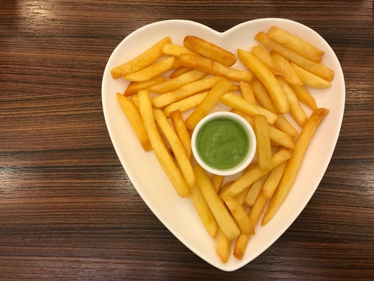 Love French fried. French Fries Prepared Potato Food And Drink Snack Freshness Food Directly Above Deep Fried  Close-up Potato Chip High Angle View Bowl No People DIP Table Indoors  Appetizer Ready-to-eat Unhealthy Eating