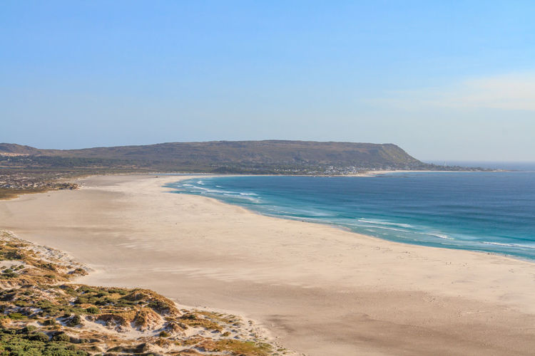 Noordhoek Beach Cape Peninsula Noordhoek South Africa Vacations Beach Beauty In Nature Blue Clear Sky Day Horizon Over Water Idyllic Beach Landscape Nature No People Noordhoek Beach Outdoors Sand Scenics Sea Sky Travel Destinations Water's Edge Wave