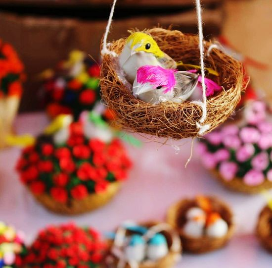 Two little dickie birds! Birds Handicraft Colors Dillihaat Blurred Background Delhi DelhiGram Delhidiaries Quill