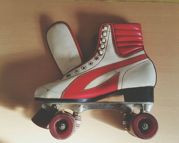 Embrace Urban Life Shoe Close-up Rollerskates Rollers Skate 80's Style 80's Style... Rollerskate No People Day Indoors  Lifestyles Oldies Patin