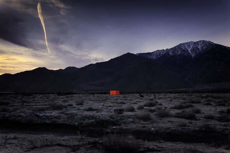 Mountain Sky Scenics - Nature Beauty In Nature No People Mountain Range Land Outdoors Desertx Sterling Ruby Specter Orange Monolith Palm Springs Art