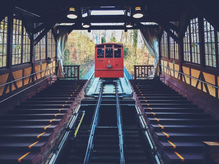 Bergbahn Bergbahn Heidelberg Germany GERMANY🇩🇪DEUTSCHERLAND@ Grandhotelbudapest Heidelberg Mountain Railway Onepointperspective