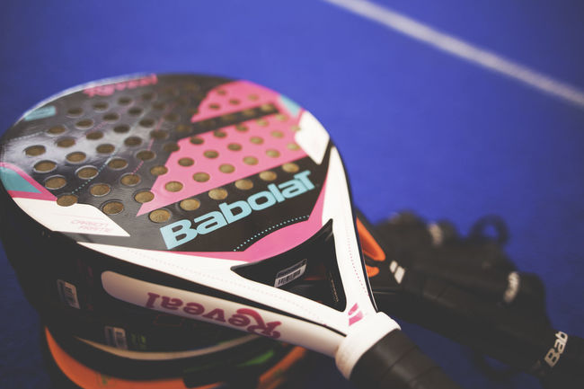 Padel Rackenvogel Close Shot Indoors  Paddle Padel Racket Racket Racket Sport