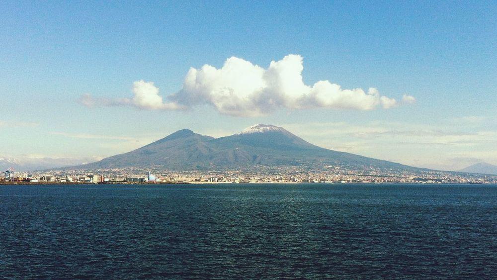 Vesuvio Golfo Di Napoli Napoli Mare Vulcano Panoramic Panoramic Photography Pamorami