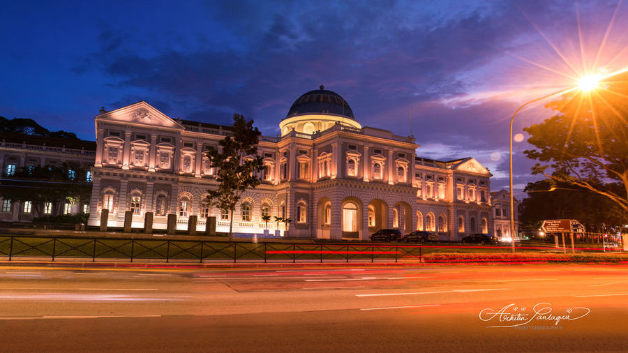 National Museum Singapore Nationalmuseumsingapore Longexposureshot Vividlights#cityscape Nightrail#bluesky Nightshot Landscape#panorama Nightphotography Singapore#bestbuilding Photographylife#photolover Photography#photoshoot Glowinthedark#canonshot Instagramphoto Canon#instagram Architecturephoto#iconic Architecturedesign Historicalbuilding Architectureporn Iconicbuilding Architecture#design Photography Photoshoot City Politics And Government Cityscape Illuminated Arts Culture And Entertainment Light Trail Road Street Architecture Sky
