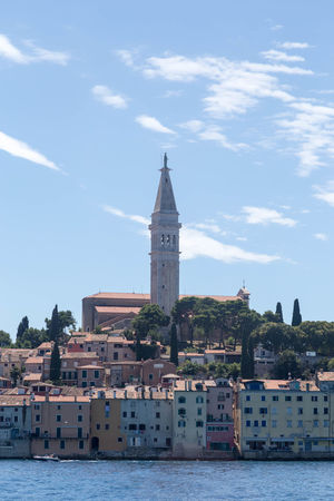 Rovinj... Coastline Croatia Holiday Holidays Rovinj Rovinj City Rovinj Croatia Architecture Building Building Exterior Built Structure City Coastal Coastal Town Croatian Town Day Place Of Worship Sea Sky Spirituality Tower Travel Destinations Vacation Visit Croatia Water