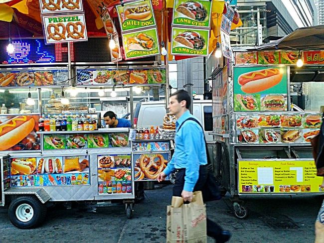 Show Us Your Takeaway! Options,2.photo by Shell Sheddy Shellsheddyphotography Sheshephoto Street Photography Street Vendors NYC Street Food The Street Photographer - 2016 EyeEm Awards The Color Of Business
