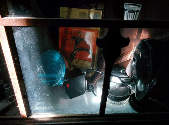late afternoon sun on my camera cabinet Collection