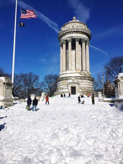 God Bless America Soldiers And Sailors Monument Riverside Park Newyorkcity SNOW!!!!